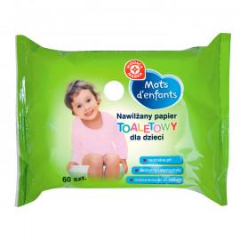 Nawilzany papier toaletowy dla dzieci