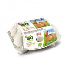 Jaja z chowu ekologicznego, klasa A, 6 sztuk jaj różnej wielkości