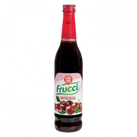 Syrop o smaku wiśniowym. Produkt pasteryzowany
