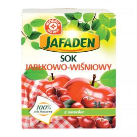 Sok jabłkowo-wiśniowy produkt pasteryzowany.