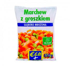 Marchew z groszkiem zielonym- mieszanka warzywana Produkt głęboko mrożony