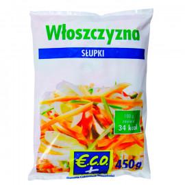 Mieszanka warzywna - włoszczyzna słupki Produkt głęboko mrożony