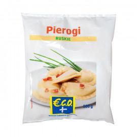 Pierogi z nadzieniem ziemniaczano-serowo-cebulowymProdukt głęboko mrożony Zawartość nadzienia 35%