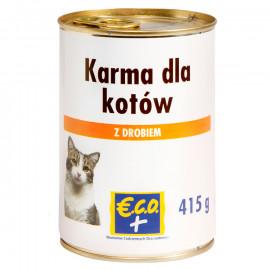 Pełnoporcjowa karma mokra w sosie z drobiem, dla dorosłych kotów