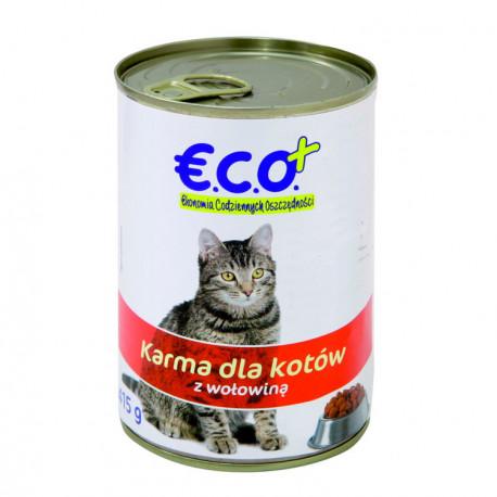 Pełnoporcjowa karma mokra w sosie z wołowiną, dla dorosłych kotów