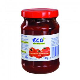 Koncentrat pomidorowy 20% 180g. Produkt pasteryzowany.