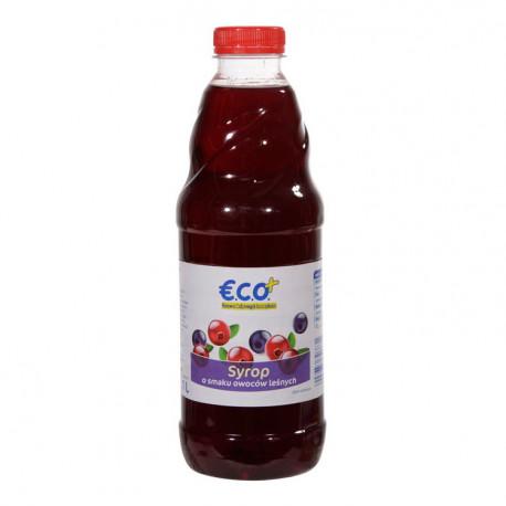 Syrop o smaku owoców leśnych. Zawiera cukier i substancje słodzące. Zawiera źródło fenyloalaniny.