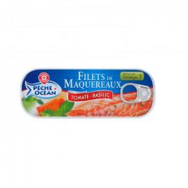 Filety z makreli w sosie pomidorowym z bazylią. Konserwa rybna sterylizowana.
