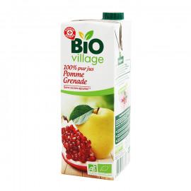Ekologiczny 100% sok z jabłek i owoców granatu Produkt rolnictwa ekologicznego.*Zawiera tylko naturalnie występujące cukry.