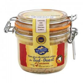 Foie gras - Pasztet z wątróbek kaczych z południowo- zachodniej Francji.Pakowano w atmosferze ochronnej.Chroniona Nazwa Pochod