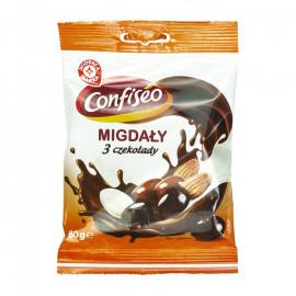 Wiodąca Marka Migdały w czekoladzie mix 80g