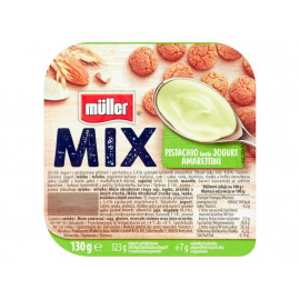 Müller Mix Jogurt o smaku pistacjowym z ciasteczkami migdałowymi 130 g