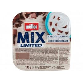 Müller Mix Jogurt słodzony aromatyzowany z czekoladą mleczną 130 g
