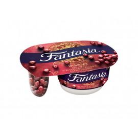 Fantasia Jogurt kremowy wiśniowe galaretki w błyszczącej polewie czekoladowej 105 g