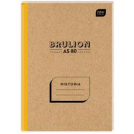 Interdruk brulion Historia A5/80k kratka twarda oprawa
