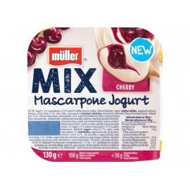 Müller Mix Jogurt z serkiem mascarpone i wsadem wiśniowym 130 g