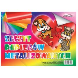 Zeszyt kolorowych papierów metalizowanych