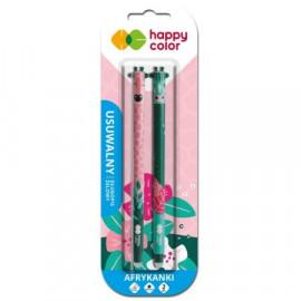 Happy Color Afrykanki  Usuwalny Długopis Żelowy 2 szt. niebieski 0,5mm