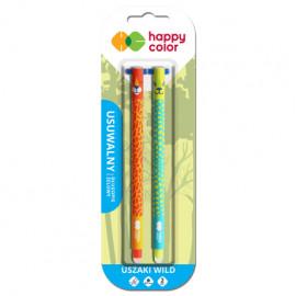 Happy Color Uszaki Wild Usuwalny Długopis żelowy 2 szt.  , niebieski 0,5mm