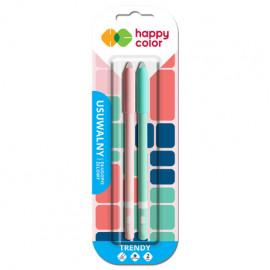 Happy Color Tredny Usuwalny długopis żelowy niebieski 2szt.