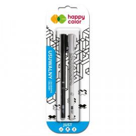 Happy Color Just Długopis żelowy usuwalny niebieski 2szt