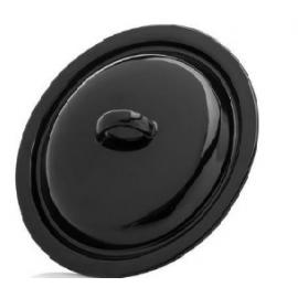 Pokrywka 13 cm czarna emaliowana