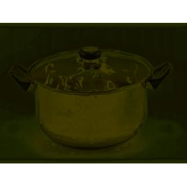 Garpol Garnek ze stali nierdzewnej z pokrywą 24 cm wysoki 5,2 L