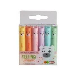 Happy Color Feelingi Zestaw 6 mini zakreślaczy