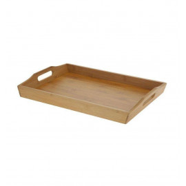 Excellent Houseware Taca do serwowania bambusowa 43x29x5 cm