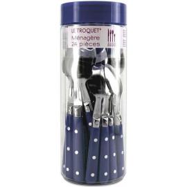 TB Collection zestaw 24 sztućców granatowych