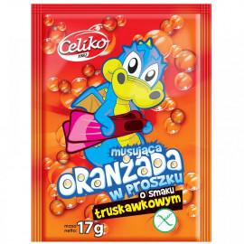 Celiko Oranżada w proszku musująca o smaku truskawkowym 17 g