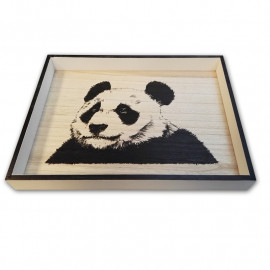 Taca drewniana Panda 40x30cm
