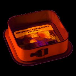 SNB Tortownica kwadratowa 24x24cm z warstwą ochronną non-stick w kolorze pomarańczowym