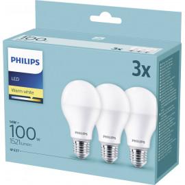 Philips Żarówka Led 3szt E27 13w-100 W Warm White
