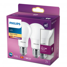 Philips Żarówka Led A+ 2szt E27 , 8w-60W Warm White