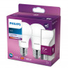 Philips Żarówka Led A+ 2szt E27 , 10w-75W Cool White