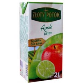 NAPÓJ JABŁKOWO – LIMONKOWY z soków zagęszczonych. Zawartość owoców minimum 20%. Zawiera substancje słodzące. Produkt pasteryzowa