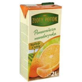 NAPÓJ POMARAŃCZOWO – MANDARYNKOWY z soków zagęszczonych. Zawartość owoców minimum 20%. Zawiera substancje słodzące. Produkt past