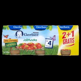 Gerber Mój pierwszy deserek Jabłuszka po 4 miesiącu 3 x 130 g