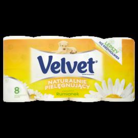 Velvet Naturalnie Pielęgnujący Papier toaletowy 8 rolek