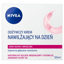 NIVEA Odżywczy krem nawilżający na dzień cera sucha i wrażliwa 50 ml