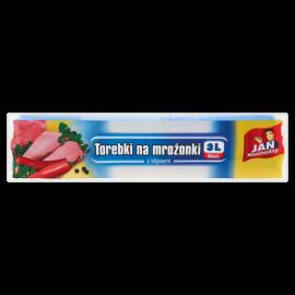 Jan Niezbędny Torebki na mrożonki z klipsami 3 l 50 sztuk