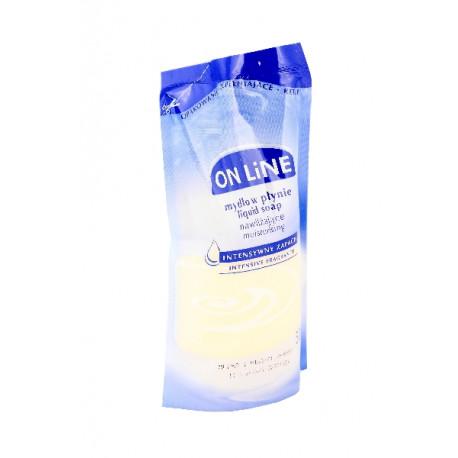 On Line Mydło w płynie nawilżające Mleko i miód 500 ml