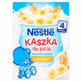 Nestlé Kaszka do picia mleczno-ryżowa z bananami po 4 miesiącu 200 ml