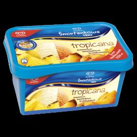 Algida Śmietankowa Trio Tropicana ananasowo śmietankowo brzoskwiniowa Lody 1000 ml