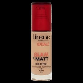 Lirene Dermoprogram Idéale Glam & Matt Fluid matująco-rozświetlający 03 beżowy SPF 15 30 ml