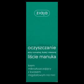 Ziaja Oczyszczanie Liście manuka Krem mikrozłuszczający 50 ml
