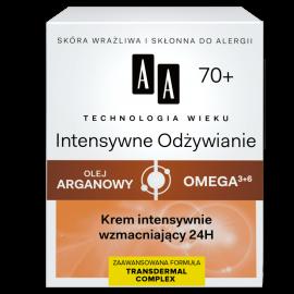 AA Technologia Wieku 70+ Intensywne Odżywianie Krem intensywnie wzmacniający 24H 50 ml
