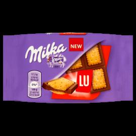 Milka Lu Czekolada mleczna z mleka alpejskiego z ciasteczkami 35 g