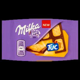 Milka Tuc Czekolada mleczna z mleka alpejskiego z solonymi krakersami 35 g